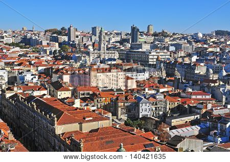View of Oporto downtown, city of Portugal