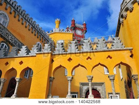 Pena palace in Sintra town of Portugal