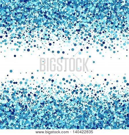 Vector creative background of blue round circles. Sea design.