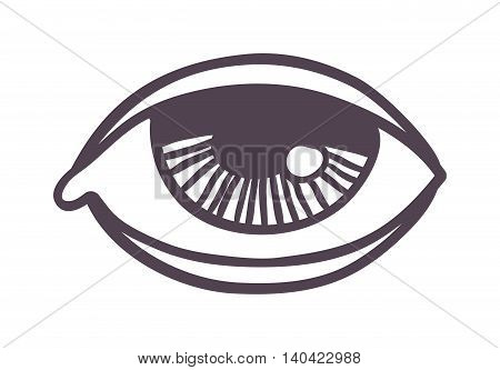 Vector esoteric eye symbol sketch hand drawn. Religion, philosophy, spirituality, occultism, chemistry, science, magic esoteric symbol. Design esoteric icon tattoo element.