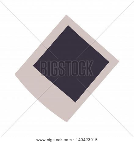 Empty photo frame vector on a white background. Empty photo frame blank image design vector icon. Empty photo frame isolated on white