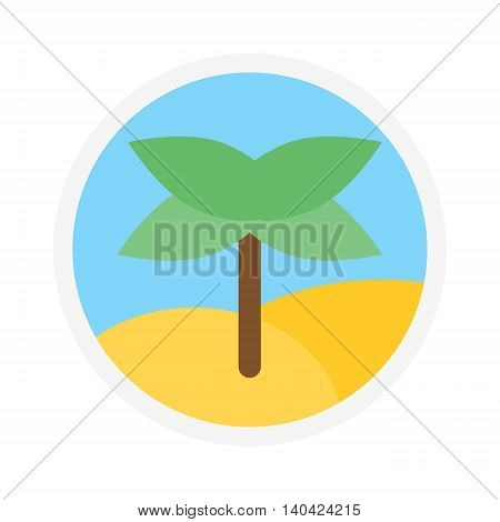 Green coconut palm icon logo isolated leaf on white background. Palm icon logotype isolated vector and green palm icon isolated. Palm isolated green plant nature and tropical palm isolated