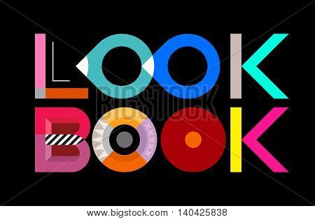 Lookbook look book - vector decorative text architecture.