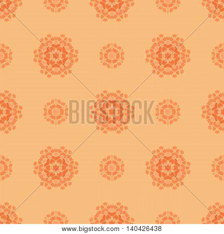 Creative Ornamental Seamless Orange Pattern. Geometric Decorative Background