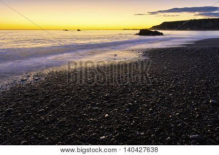 Early morning Kaikoura Coast South Island New Zealand