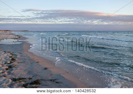 Waves at the beach on Hiddensee island Germany
