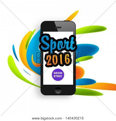 Summer sport 2016 concept template, Design for brochure, website, book or flyers. Mobile phone