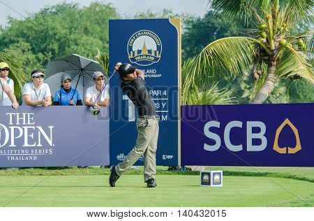 CHONBURI - DECEMBER 13 : Juvic Pagunsan of Philippines player in Thailand Golf Championship 2015 at Amata Spring Country Club on December 13 2015 in Chonburi Thailand.