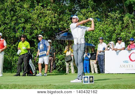 CHONBURI - DECEMBER 13 : Steve Lewton of England player in Thailand Golf Championship 2015 at Amata Spring Country Club on December 13 2015 in Chonburi Thailand.