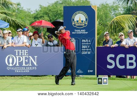 CHONBURI - DECEMBER 13 : S.S.P Chawrasia of India player in Thailand Golf Championship 2015 at Amata Spring Country Club on December 13 2015 in Chonburi Thailand.