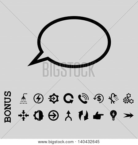 Hint Cloud glyph icon. Image style is a flat pictogram symbol, black color, light gray background.