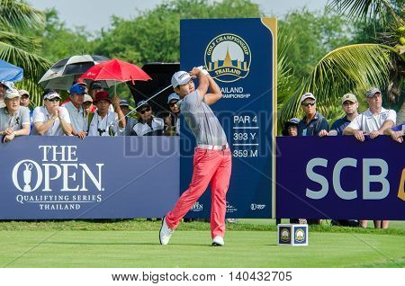 CHONBURI - DECEMBER 13 : Sunghoon Kang of South Korea player in Thailand Golf Championship 2015 at Amata Spring Country Club on December 13 2015 in Chonburi Thailand.