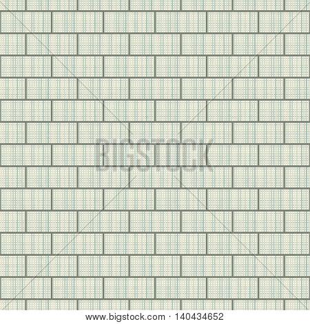 Brickwork seamless pattern. Fabric texture. Vector illustration