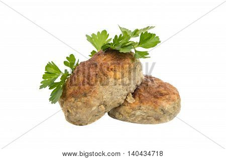 meatballs barbecue meal on a white background