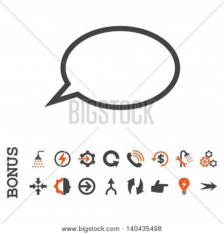 Hint Cloud glyph bicolor icon. Image style is a flat pictogram symbol, orange and gray colors, white background.