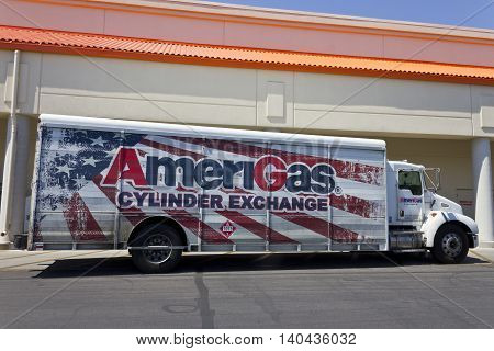 Las Vegas - Circa July 2016: AmeriGas Truck. AmeriGas is a propane company serving residential commercial industrial agricultural and motor fuel customers I