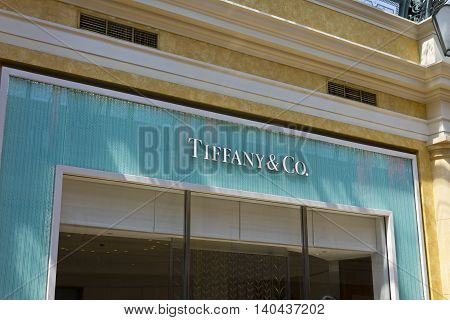 Las Vegas - Circa July 2016: Tiffany & Co. Retail Mall Location. Tiffany's is a Luxury Jewelry and Specialty Retailer Headquartered in New York City I