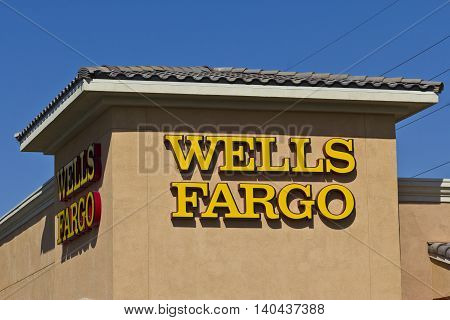 Las Vegas - Circa July 2016: Wells Fargo Retail Bank Branch. Wells Fargo is a Provider of Financial Services VIII