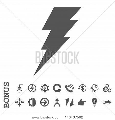 Execute glyph icon. Image style is a flat pictogram symbol, gray color, white background.