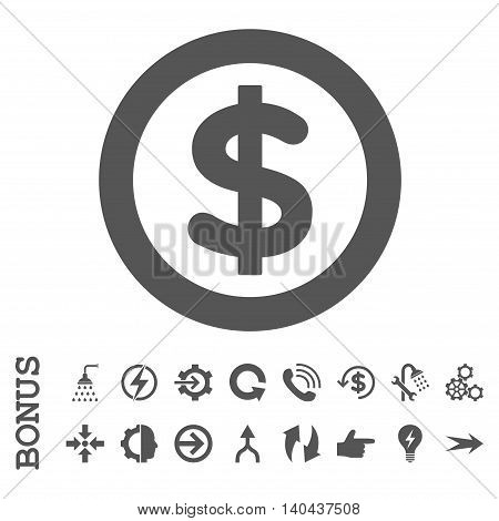 Finance glyph icon. Image style is a flat pictogram symbol, gray color, white background.
