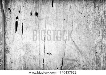 Closeup of white wood background