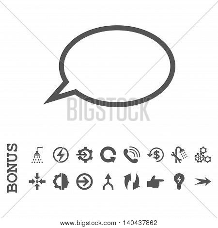 Hint Cloud glyph icon. Image style is a flat iconic symbol, gray color, white background.