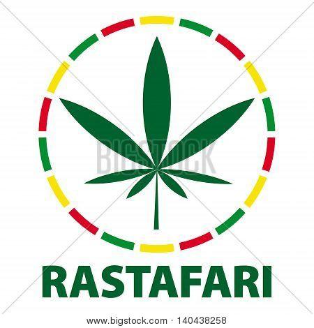 Marijuana Leaf In Rastafari Colours, Vector Illustration
