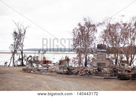 Buildings Destroyed By Bushfire