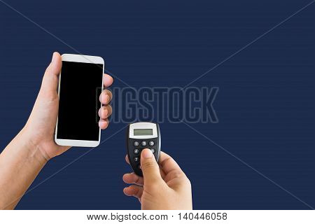 Isolated Hand Hold Token For Online Banking With Smartphone