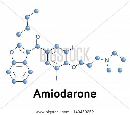 Amiodarone is a class III antiarrhythmic agent used for various types of ventricular and atrial cardiac dysrhythmias. Used for acute life-threatening and the chronic suppression of arrhythmias.