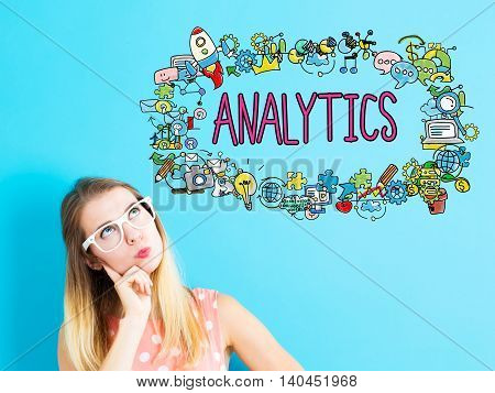 Analytics Concept With Young Woman