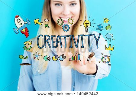 Creativity Concept With Young Woman