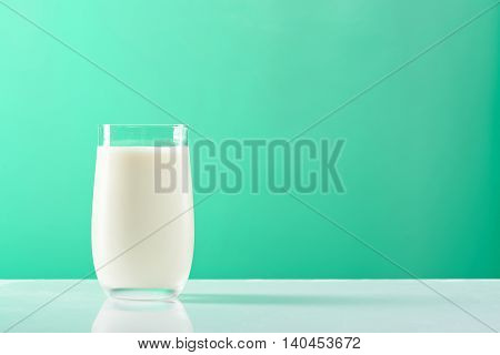 Milk Glass On Green