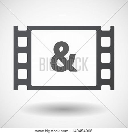 Isolated 35Mm Film Frame With An Ampersand