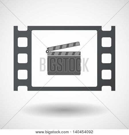 Isolated 35Mm Film Frame With A Clapperboard
