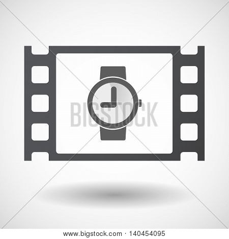 Isolated 35Mm Film Frame With A Wrist Watch