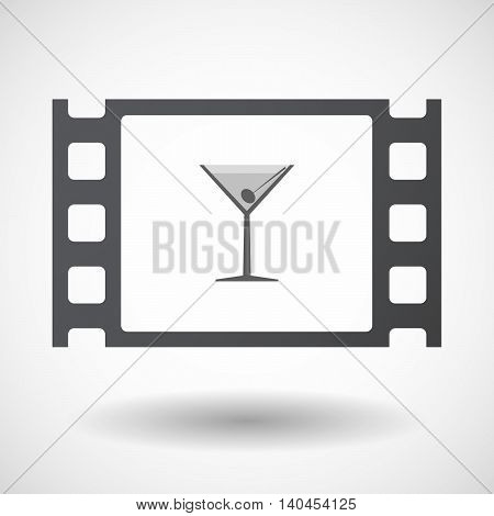 Isolated 35Mm Film Frame With A Cocktail Glass