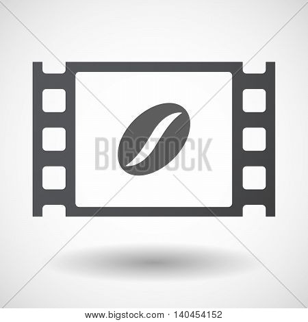 Isolated 35Mm Film Frame With A Coffee Bean