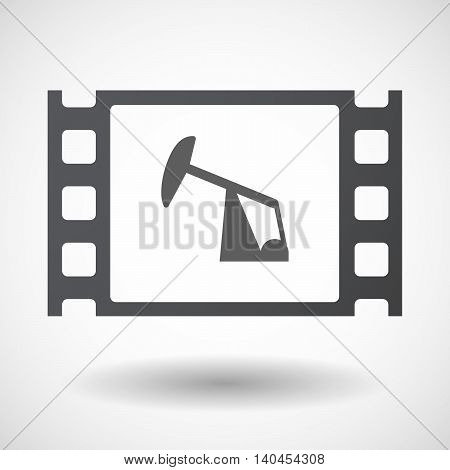 Isolated 35Mm Film Frame With A Horsehead Pump