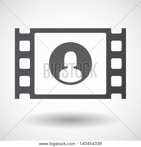 Isolated 35Mm Film Frame With A Female Avatar