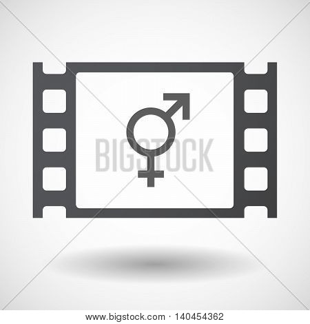 Isolated 35Mm Film Frame With A Bigender Symbol