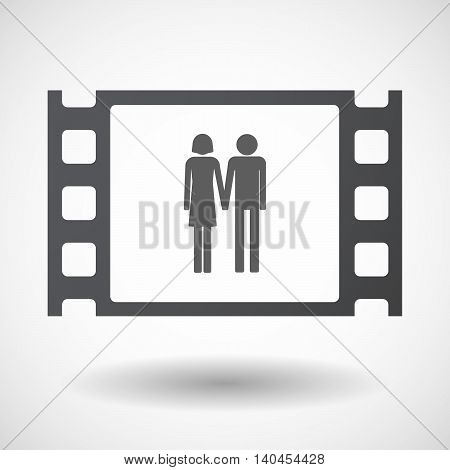 Isolated 35Mm Film Frame With A Heterosexual Couple Pictogram
