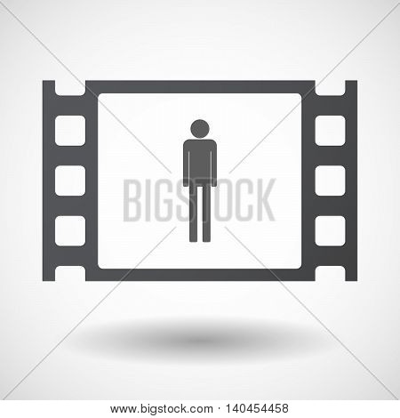 Isolated 35Mm Film Frame With A Male Pictogram