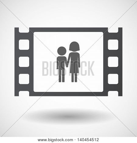 Isolated 35Mm Film Frame With A Childhood Pictogram