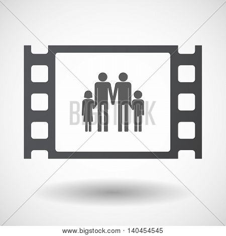 Isolated 35Mm Film Frame With A Gay Parents  Family Pictogram
