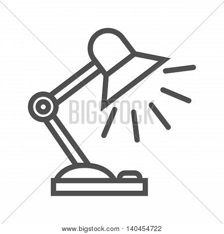 Reading-lamp thin line vector icon on white background.