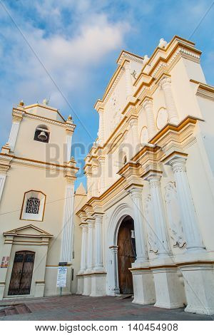 Leon Nicaragua. Cathedral back outdoors facade view