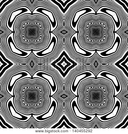 Design Seamless Monochrome Decorative Background