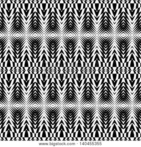 Design Seamless Monochrome Checkered Pattern