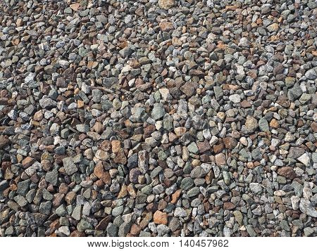 Pebble gravel. Crushed granite. Background and texture